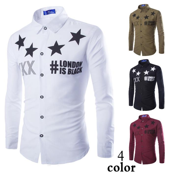 4 Colors Men\'s Western Fashion  Printing Casual Lo...