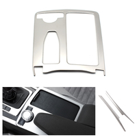 For Mercedes Benz C Class W204 C200 C300 C180L E Class W212 ABS Chrome Central Control Water Cup / Gear Shift Panel Cover Trim