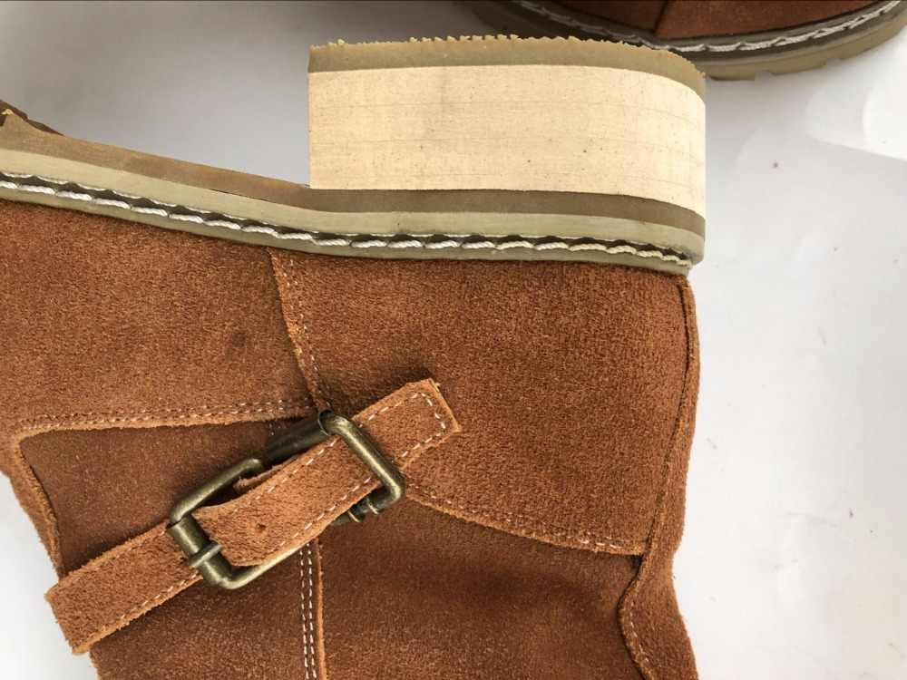 Careaymade-Nuovo Trasporto libero metà caviglia breve natrual reale genuino del cuoio delle donne del motociclo stivali di neve delle donne scarpe di avvio GBT001