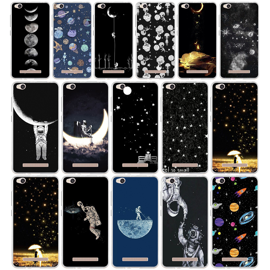 73g Sky Space Planet Black And White Sun Moon For Xiaomi Redmi 4x Case Fundas Case Redmi 4x Cover Soft Silicone Tpu Bags Shell Phone Bags & Cases Cellphones & Telecommunications