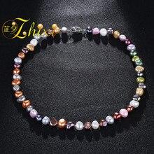 a3c97cb8963b ZHIXI barroco joyas de collar de perlas agua dulce collar de perlas collar  de piedra para las mujeres regalo de fiesta Bohemia .