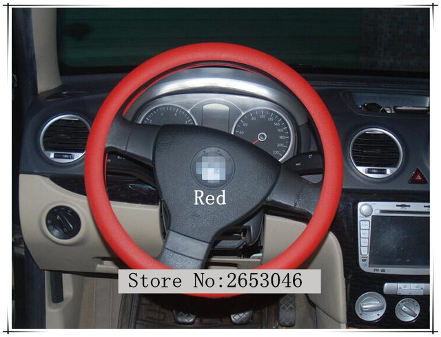 Auto Silica gel Car Steering Wheel Cover For Renault duster BMW e46 e39 skoda octavia opel astra j Great Wall Hover Accessories