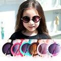 Moda 2017 new boys niños redondo lindo diseñador de la marca chica fresca gafas de sol niño anti-ultravioleta bebé gafas vintage