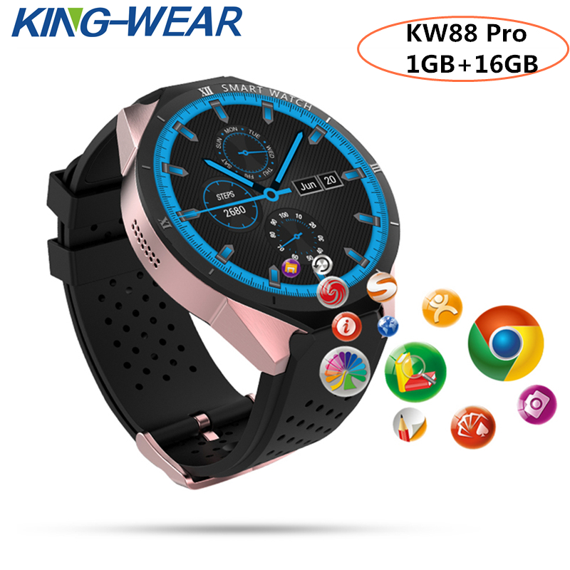 KingWear 2018 KW88 Pro ph X5 I4 3G Smartwatch Phone 1.39 inch Android 7.0 MTK6580 Quad Core 1.3GHz 1GB RAM 16GB ROM smart watch