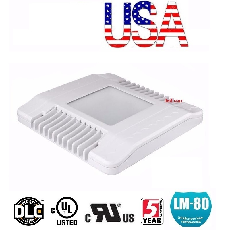 Stock In US + 150W LED Gas Station Canopy Lights Outdoor Floodlight Street Lamp Tunnel Light AC 110-277V UL DLC FCC