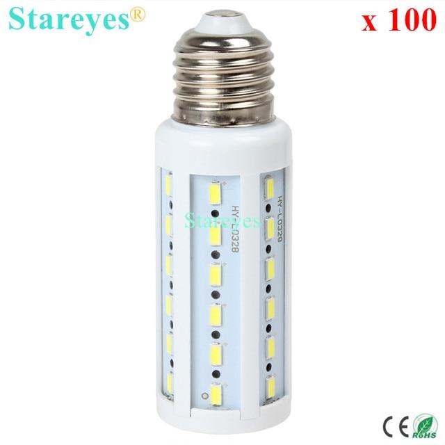 Free shipping 100 pcs 12W 42 LED 5630 5730 SMD E27 E14 B22 LED Corn Bulb corn Light Maize Lamp Lighting Warm/Cool White