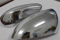 2PCS ABS 크롬 사이드 도어 사이드 미러 커버 트림 자동차 스타일링 닛산 Qashqai J10 2007 2008 2009 2010 2011 2012 2013