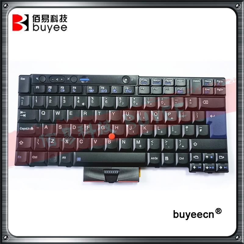 Genuine Black Laptop English Keyboard Big Enter For Lenovo X220 T410 T410I T410S T420I T510 T520 W520 UK Keyboard Replacement laptop keyboard for clevo m550 black without frame with trackpoint u s english international ui mp 030834u 4309l