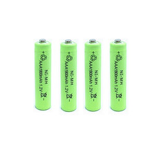 2 or 4PCS AAA  1.2V 1800mAh Rechargeable NiMH Battery Free shipping to Russian Federation