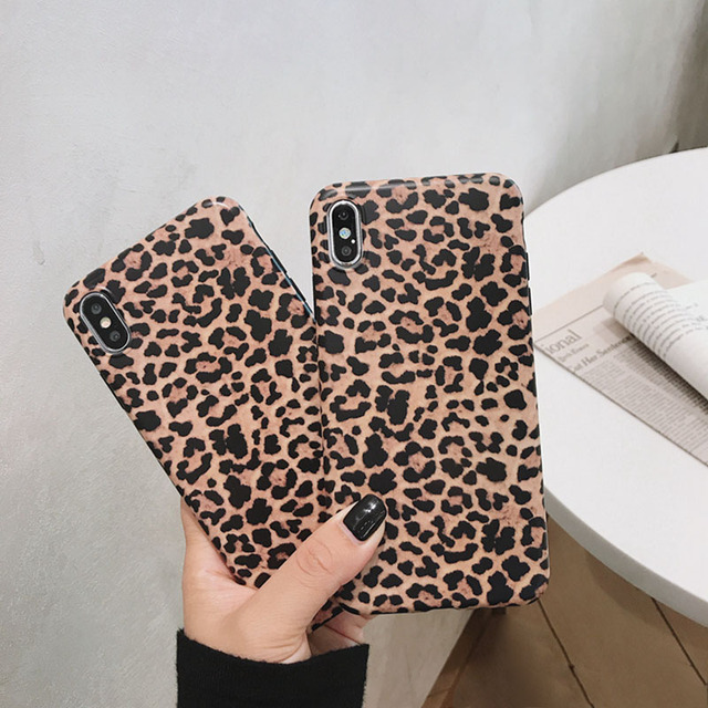 Leopard Phone Case For iphone - Luxury Soft Cases Matte Capa