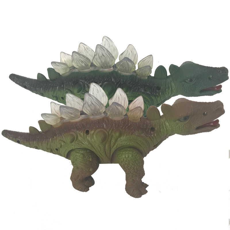 ไฟฟ้าเดิน Crawling เสียงหาง Jianlong เข็มขัดเรียกว่าไดโนเสาร์จำลองไดโนเสาร์การ์ตูนของเล่นเด็กของเล่น
