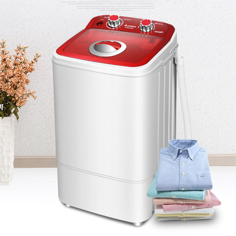 CHIGO 4.6kg Capacity Wash Machine Baby Child Clothes Washer Mini Semi-automatic Dehydration Washing Machine Laundry Dormitory
