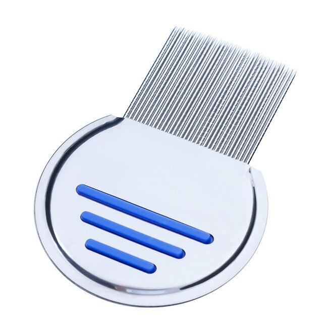 ステンレス鋼子供ターミネーターシラミ櫛 Nit 取り除く Headlice 超高密度歯削除ペット櫛スタイリングツール