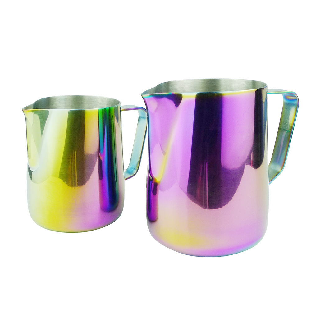 Frothing jug Espresso Coffee Pitcher Barista Craft Coffee Latte Milk Frothing Jug Stainless Steel Colorful Mug