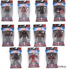 Marvel Avengers Iron Man Capitán América Negro Viuda Hawkeye Pantera Negro PVC Figura de Acción de Colección Modelo Juguetes 17 cm KT3351
