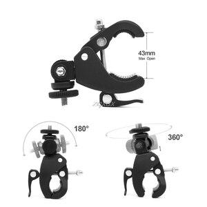 Image 5 - High Quality 1/4 Camera DV DSLR Bike Bicycle Handlebar Clamp Bracket Tripod Mount Screw Clip For Holding LCD Monitor DSLR Camera