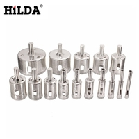 HILDA 6mm 50mm 15 PCS Diamond Coated Core Hole Saw Drill Bits Tool Cutter For Tiles