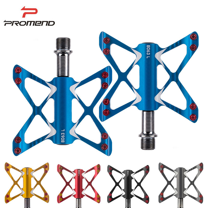 Promend 3 Bearings Bicycle Pedals Ultralight Mountain Bike Pedal Road Cycling Pedals Magnesium Flat Pedals Terrain Titanium rockbros 9 16 magnesium alloy bicycle pedal titanium spindle ultralight mountain bike pedal 5 colors