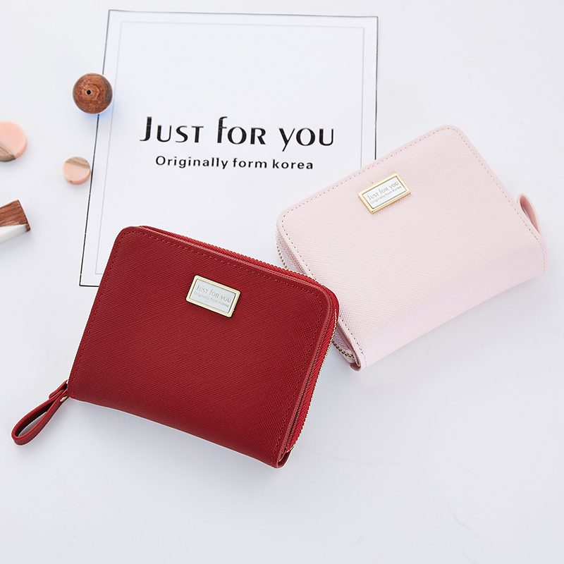 Women Short Leather Wallet Casual Bag For Girls Simple Solid Zipper Small Purse Card Holder Fashion Female Purses Dropshipping