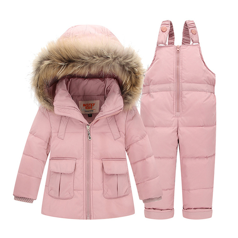 2018 Infant Baby Snowsuit Winter Coat Duck Down Toddler Girls Winter Outfits Snow Wear Jumpsuit Bowknot Polka Hoodies Jacket new infant baby winter coat snowsuit duck down toddler girls winter outfits snow wear jumpsuit rabbit cartoon hoodies jacket set