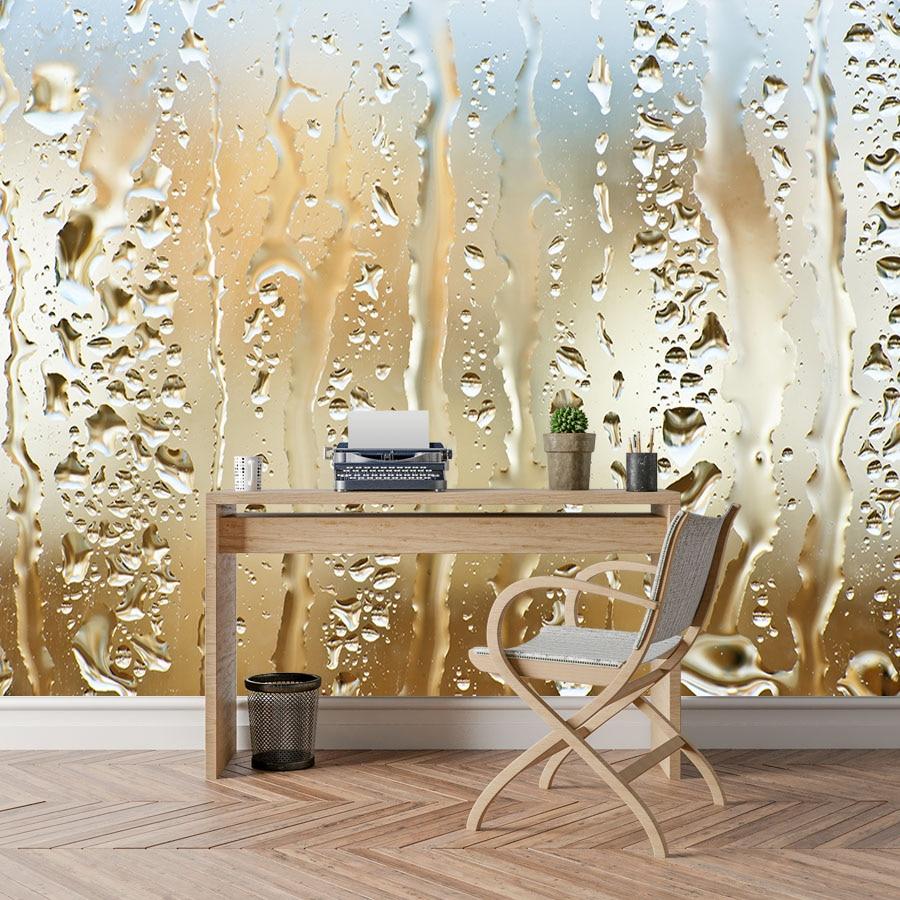 US $11 76 OFF Shinehome Abstrak Wallpaper Gambar Wallpaper Untuk 3 D Hidup Kamar Dinding Kertas Tetesan Air Kristal Angka Dekorasi Background