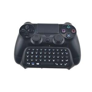 Image 2 - Mini Bluetooth kablosuz klavye için PS4 Joystick Chatpad için Sony Playstation 4 için PS4 denetleyici