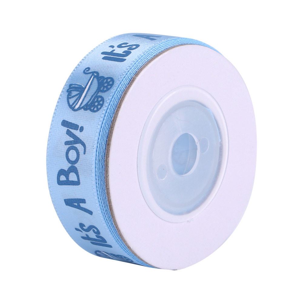 10Yards//Roll IT is A BOY//Girl Blue Pink Baby Shower Christening Party Favor Gift Stain Ribbon Blue