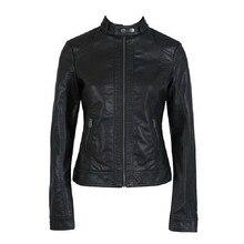 Fashion Vintage Slim Short Biker Motorcycle font b Jacket b font PU Soft Faux font b