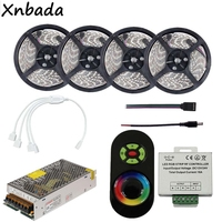 RGB Led Flexible Strip Light SMD2835 60Leds/m With Led RGB Strip RF Controller DC12V Power Adapter Kit 5M 10M 15M 20M