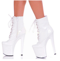 Hot Selling Women Ankle Boots 8 Inch High Heel Plateform Round Toe Fashion Shoes 20cm Strappy