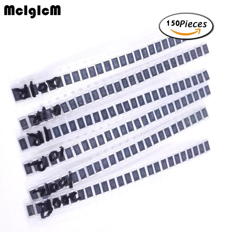 MCIGICM 2512 SMD Resistor kit 0 1 ohm to 200 ohm 6 values 25pcs electronic diy kit in Resistors from Electronic Components Supplies
