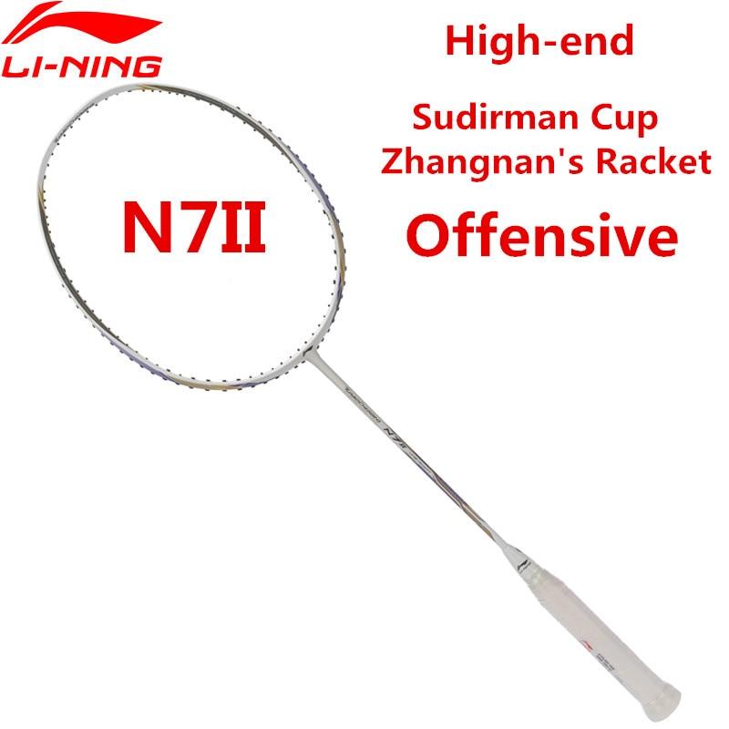 2018 nouveau li-ning N7II Sudirman Cup Zhangnan raquettes de Badminton professionnel haut de gamme Li Ning AYPL202 T qualité L850OLA