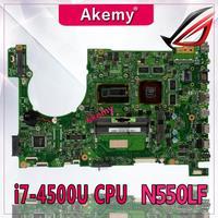 Akemy Laptop Motherboard For ASUS Q550LF N550LF PC PN 60NB0230 MBB000 N550LF MAIN BOARD CPU i7 4500U CPU DDR3 100% Fully Tested