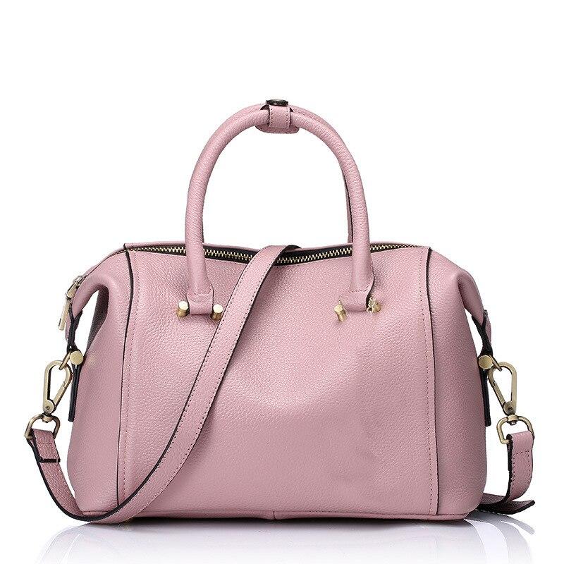 Fashion Women Genuine Leather Handbags Ladies Cowhide Brief Tassel Tote Crossbody bags Female Pillow Shoulder Bolsas QZ5695