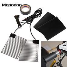 Mgoodoo 12V Universal Motorcycle Heated Grip Pads Insert Handlebar Hand Warmer Kit ATV Motorbike Scooter Warm Heater