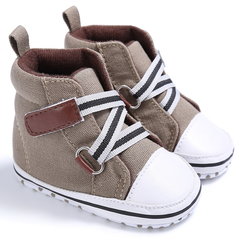 2020 Autumn Casual Baby Canvas Shoes Boys Girls Sport Shoes Breathable Denim Sneakers Soft Sole First Walker Lace Up Boot