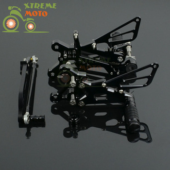 Motorcycle CNC Adjustable Motorcycle Billet Foot Pegs Pedals Rest For YAMAHA R6 2006-2015 06 07 08 09 10 11 12 13 14 15