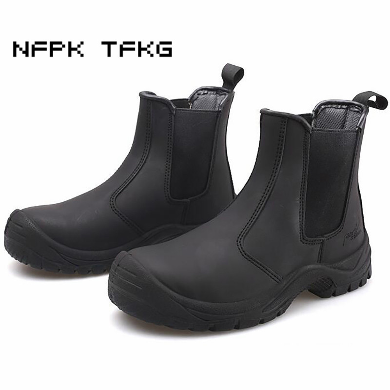 mens leisure large size steel toe cap work safety shoes anti-pierce spring autumn genuine leather ankle boots protect footwearmens leisure large size steel toe cap work safety shoes anti-pierce spring autumn genuine leather ankle boots protect footwear