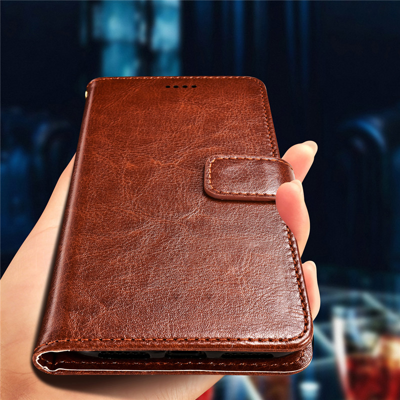 SRHE For Meizu M6T Case Cover Flip Luxury Leather Wallet Silicone Magnet Case For Meizu M6T 5.7 inch Cover