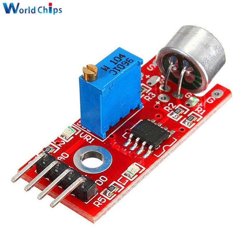 R 1 12 12 De Desconto Módulo De Detecção De Sensor De Som De Microfone Sensível Alto Para Arduino Avr Pic 5 V Dc Fonte De Alimentação Módulo De Saída