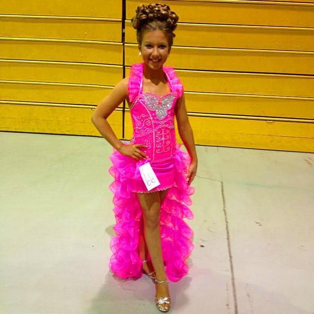 7f18fca5af7 2017 Cute Hot Pink Organza Crystal Hi lo Little Kids For Wedding Halter  Frock Designs Cute Cheap Beauty Girls Pangeant Dresses
