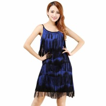 2017 Sexy Women Lady Dancewear Latin Tango Salsa Dance Clothes Costumes Evening Party Full Tassel Fringe Rumba Samba Ballroom