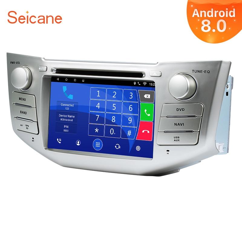 Seicane Android 8.0 7inch 2Din Car Radio Stereo DVD GPS Tochscreen Multimedia Player For Toyota Harrier Lexus RX 350 330 400h seicane 2din android 8 0 7inch car radio stereo gps multimedia player for mercedes benz slk class slk200 slk280 slk350 slk55