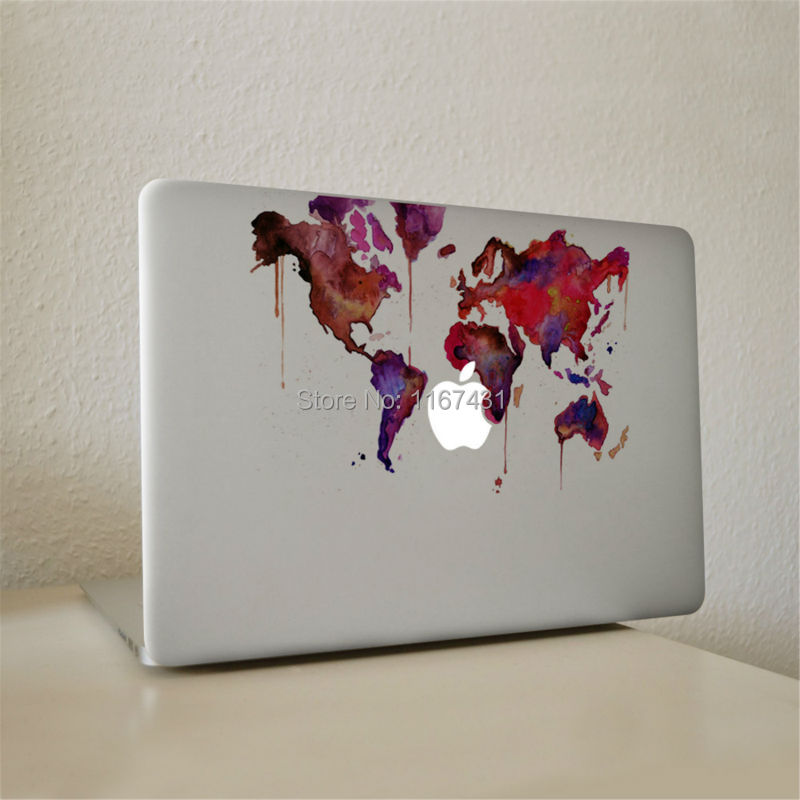 New graffiti world map vinyl decal sticker for apple macbook pro air new graffiti world map vinyl decal sticker for apple macbook pro air pro retina 11 13 15 inch protective cover skin sticker in laptop skins from computer gumiabroncs Images