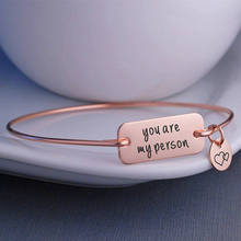 You are My Person Bracelet, Greys Anatomy Quote, Youre Jewelry, Best Friend Bangle Bracelet Anniversary Gift  YP3746
