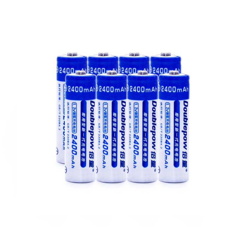8pcsAA Batteries NI-MH 2400mAh 1.2V AA Rechargeable Batteries 2A Bateria Baterias or Remote Controller/Electric Shaver/Radio/Toy