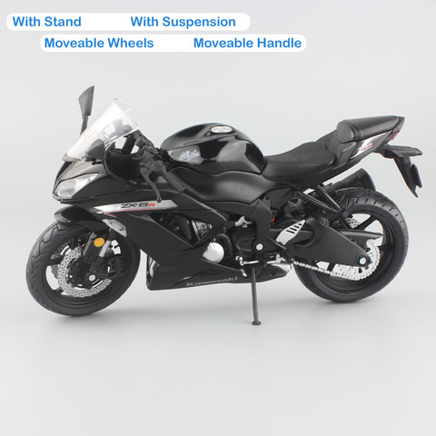 1:12 scale mini Kawasaki Ninja ZX-6R Sport bike metal Motorcycle diecast sport road racing model collection car toy for children Islamabad