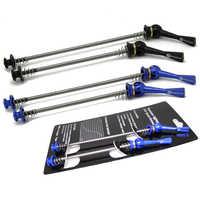Ultra-léger 48 g/paire titane Ti axe brochettes QR vtt vélo de route vélo à dégagement rapide avant 100 arrière 130/135mm brochettes de moyeu de roue