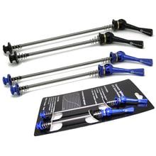 Ultralekki 48 g/para Titanium Ti Axis szaszłyki QR MTB szosowe rower Quick Release przód 100 tył 130/135mm piasta koła szaszłyki