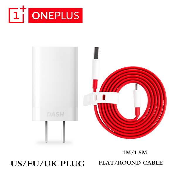 Oneplus 6 6t 5 3 T US EU UK Plug Dash <font><b>Charger</b></font> Fast Charge Adapter Type C Date Cable 1M/1.5M Flat Quick Charging Line image